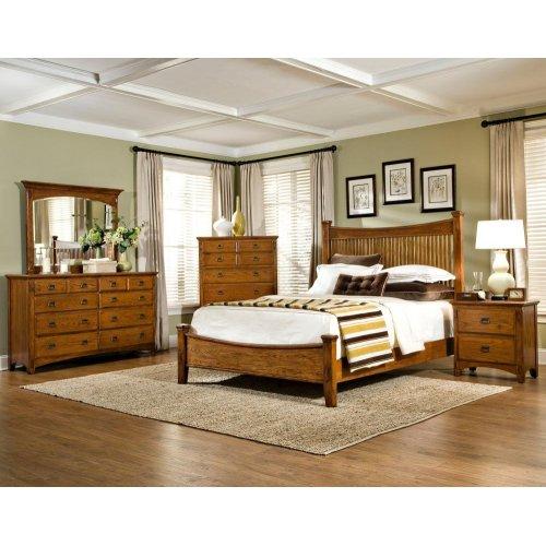 Slat Queen Bed, Footboard