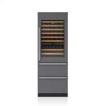 "30"" Designer Wine Storage with Refrigerator Drawers - Panel Ready"