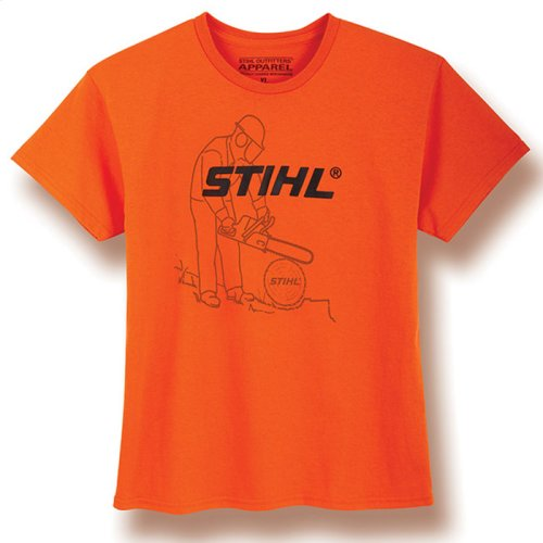 Cute graphic t-shirt for young STIHL fans.
