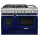 48'' 6-Burner with Griddle, Dual Fuel Freestanding Range, Commercial-Style - Cobalt Blue Product Image