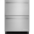 "24"" Double-Refrigerator Drawers, Euro-Style Stainless Handle Product Image"