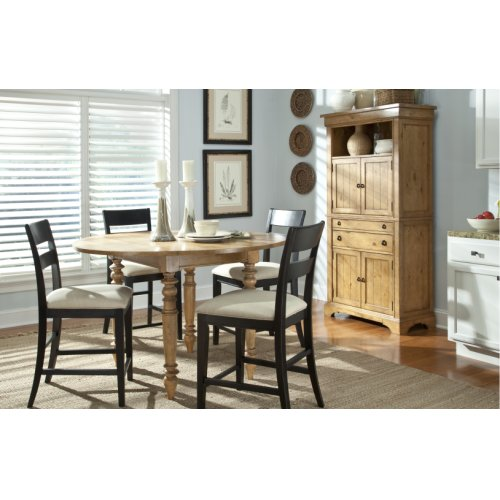 Pleasant Grove Dining Group - Includes Table, 4 Stools and Storage Cabinet