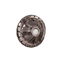 Surface Mount Medallion Lighted Push Button in Antique Pewter