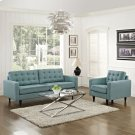 Empress Armchair and Sofa Set of 2 in Laguna Product Image