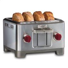 Four Slice Toaster - Red Knob