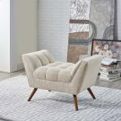 Response Upholstered Fabric Ottoman in Beige Product Image