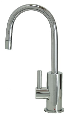 Francis Anthony Collection - Hot Water Faucet with Contemporary Round Body & Handle - Polished Chrome Product Image