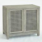 Driftwood Lattice Two-Door Cabinet-Grey Product Image
