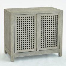 Driftwood Lattice Two-Door Cabinet-Grey