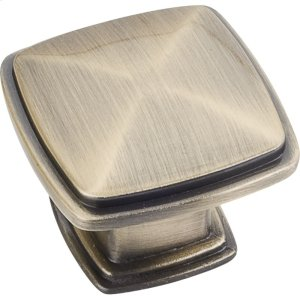 "1-3/16"" Overall Length Plain Square Cabinet Knob. Product Image"