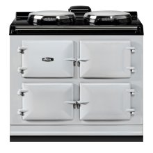 "AGA Dual Control 39"" Electric Pearl Ashes with Stainless Steel trim"