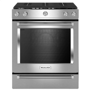 30-Inch 5-Burner Gas Slide-In Convection Range - Stainless Steel Product Image