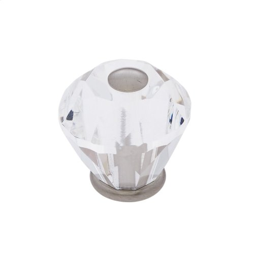 Satin Nickel 30 mm Diamond Cut Knob