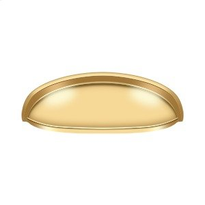 "Elongated Shell Pull 4 1/2"" - PVD Polished Brass Product Image"