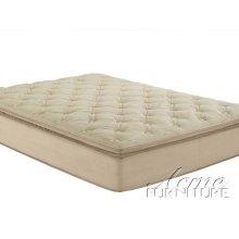 Cicely Beige Suede California King Pillow Top Mattress Set