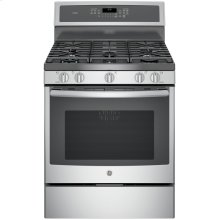 "GE Profile™ 30"" Free-Standing Gas Convection Range.  (This is a Stock Photo, actual unit (s) appearance may contain cosmetic blemishes. Please call store if you would like actual pictures). This unit carries A ONE YEAR MANUFACTURER WARRANTY. REBATE NOT VALID with this item. ISI 34156GH"