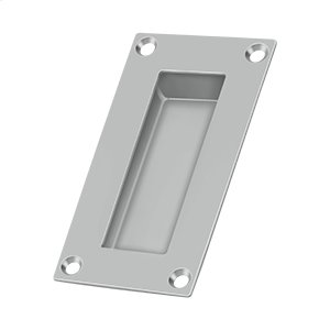 """Flush Pull, Rectangular, Stainless Steel, 4""""x 2""""x 1/2"""" - Brushed Stainless Product Image"""