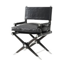Director's Cut Accent Chair - Black Leather