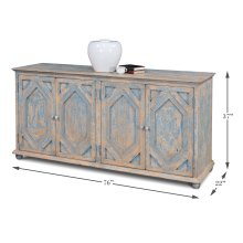 Four Diamonds Sideboard, Blue