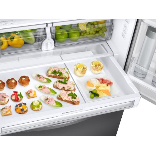 23 cu. ft. Counter Depth 3-Door French Door Refrigerator with CoolSelect Pantry in Stainless Steel