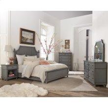 Bella Grigio - Six Drawer Dresser - Chipped Gray Finish