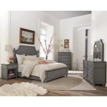Bella Grigio - Six Drawer Dresser - Chipped Gray Finish
