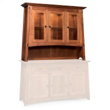 "McCoy Open Hutch Top, 56"", Antique Glass"