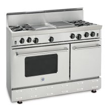"""48"""" RNB SERIES RANGE WITH A GRIDDLE & CHARBROILER"""