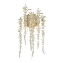Cascading Crystal Two-Light Wall Sconce