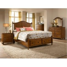 Hayden Place - Light Cherry, Panel Storage Bed, Queen