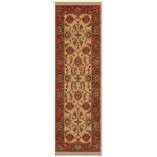 Agra Ivory Runner 2ft 6in X 8ft