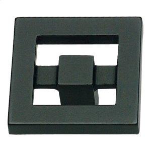 Nobu Square Knob 1 3/8 Inch - Matte Black Product Image