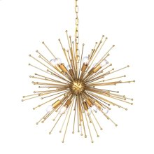 ARCHER CHANDELIER- LARGE  Gold Finished Metal