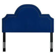 Laylah King Headboard in Navy Velvet