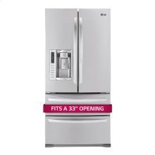 "Ultra-Large Capacity 4 Door French Door Refrigerator with Ice & Water Dispenser (Fits a 33"" Opening)"