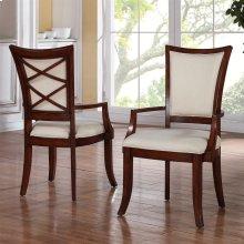Windward Bay - Xx-back Upholstered Arm Chair - Warm Rum Finish