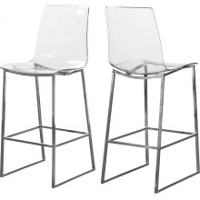 "Lumen Chrome Counter Stool - 16.5"" W x 20.5"" D x 43"" H"