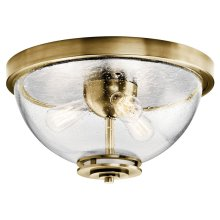 Silberne 3 Light Flush Mount Natural Brass