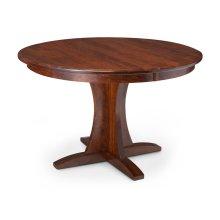 Grace Single Pedestal Table, Solid Top