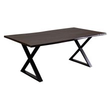Manzanita Midnight Sheesham Dining Table with Different Bases, VCS-DT72M