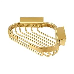 "Wire Basket, 6"" x 5"" Triangular Corner - PVD Polished Brass Product Image"