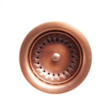 """3 1/2"""" Solid Copper Drain with"""