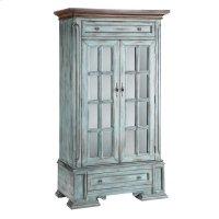 Hartford 2-door 2-drawer Cabinet With 3 Inner Shelves In Moonstone Blue Product Image