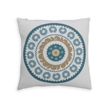 Native Circle Feather Toss Cushion 18x18