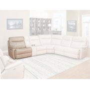 DYLAN - CREME Power Left Arm Facing Recliner Product Image