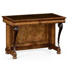 "Burl oak ""pangolin"" writing desk"