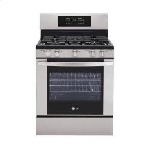5.4 cu. ft. Capacity Gas Single Oven Range.  (This is a Stock Photo, actual unit (s) appearance may contain cosmetic blemishes. Please call store if you would like actual pictures). This unit carries our 6 month warranty, MANUFACTURER WARRANTY and REBATE NOT VALID with this item. ISI 34197