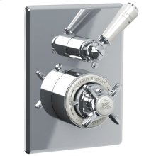 White lever concealed Godolphin thermostatic mixing valve trim only, to suit M1-4201 rough