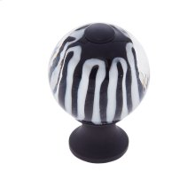 Oil Rubbed Bronze 30 mm Clear Knob w/Stripes