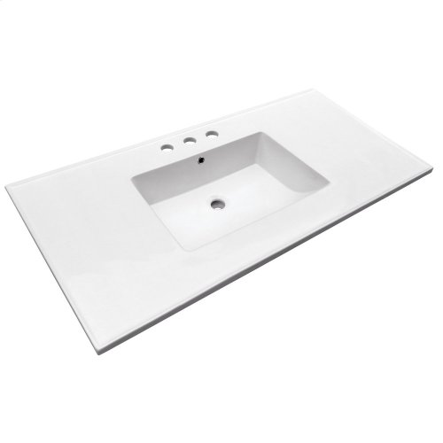 "Hartley 49"" Vanity Top - 8"" Widespread"